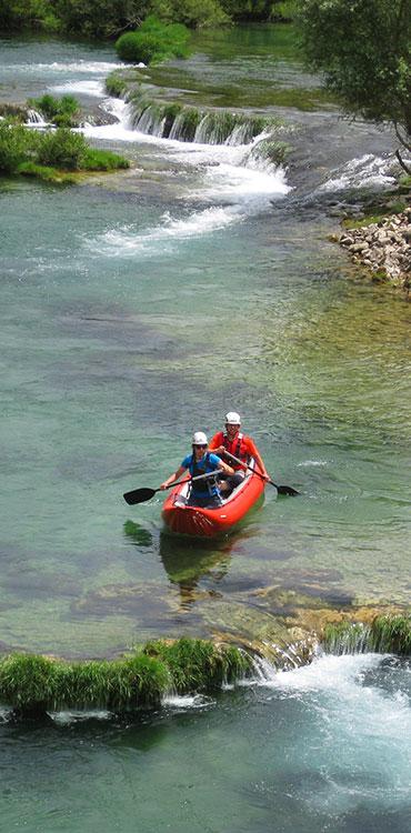 Location de canoë, descentes de l'Hérault en canoë et kayak à Laroque près de Saint-Guilhem-le-Désert